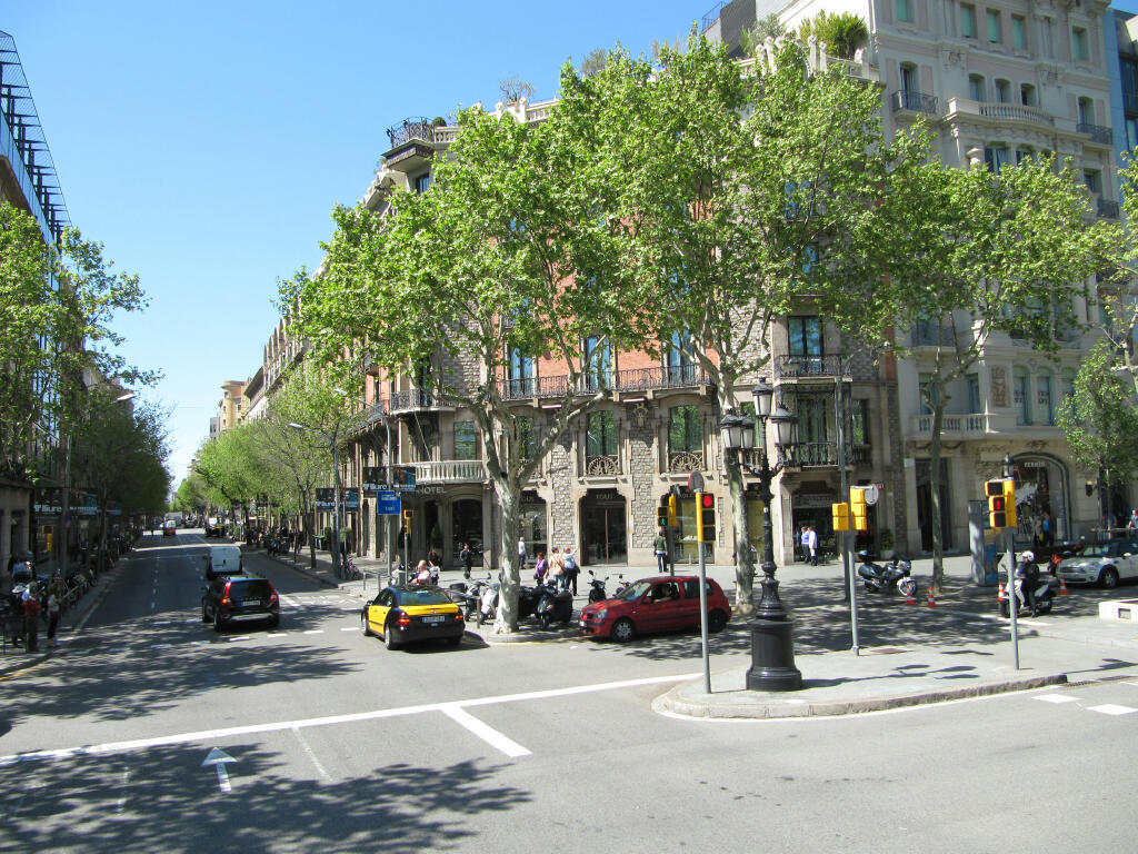 A spring day in barcelona